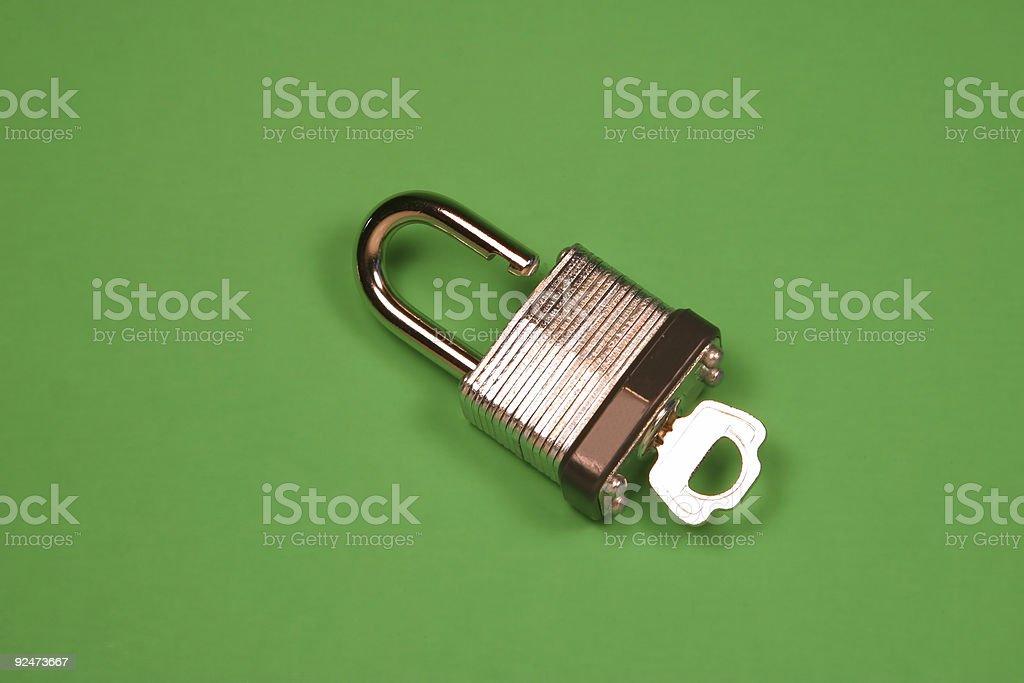 Locks and Keys: Small Lock and Key royalty-free stock photo