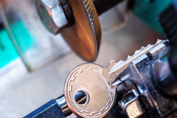 locksmith, key duplication stock photo