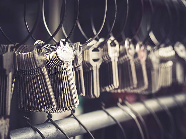 Locksmith Key shop Business many keychains in bunches – Foto