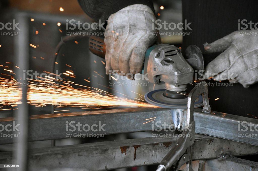 Locksmith welding sharpening – Foto