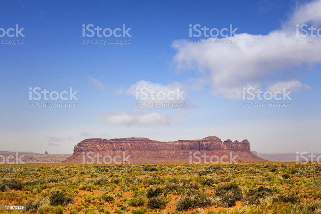 Locomotive Butte - Monument Valley royalty-free stock photo