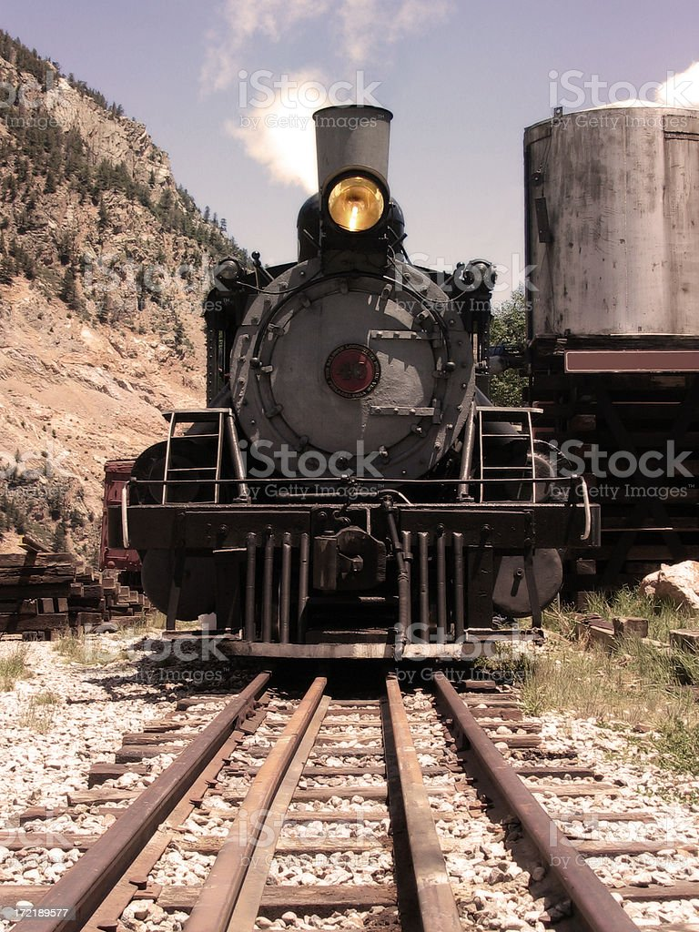 Locomotive (Antiqued Sepia) royalty-free stock photo