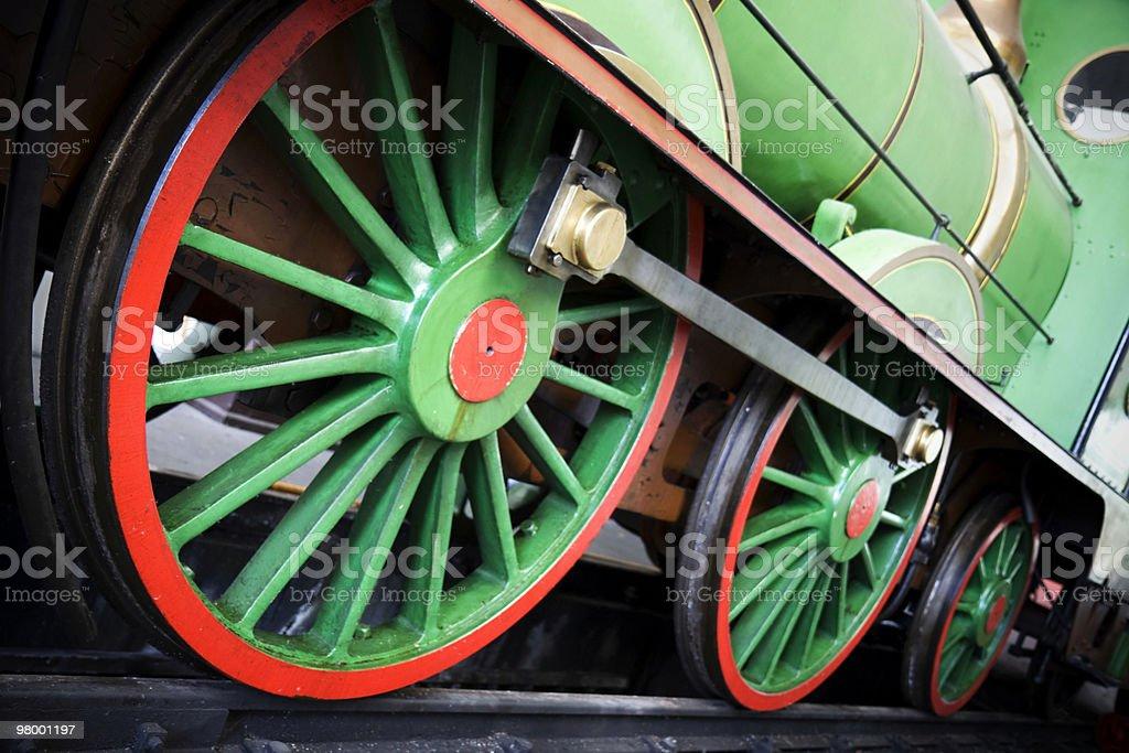 Locomotive wheels royalty-free stock photo