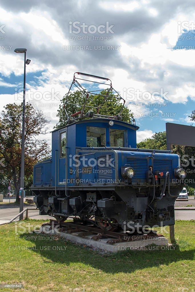 Locomotives of the Bavarian Zugspitze Railway in Munich, 2015 stock photo