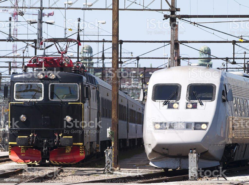 Locomotives royalty-free stock photo