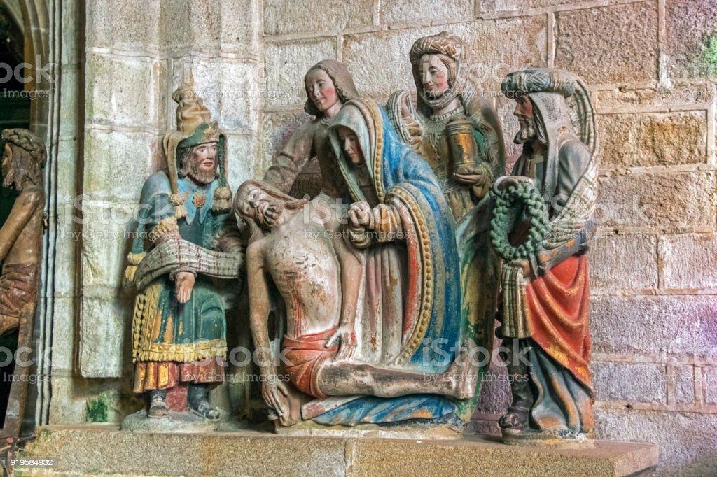 Locronan, église saint ronan. Finistère. Bretagne stock photo