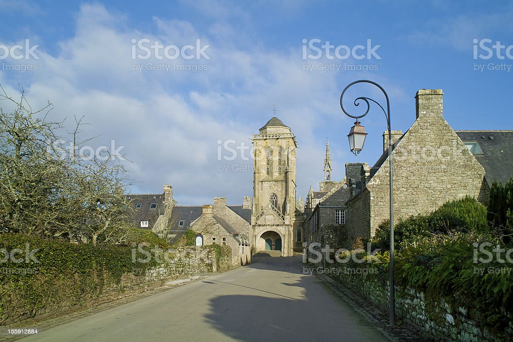 locronan in brittany stock photo