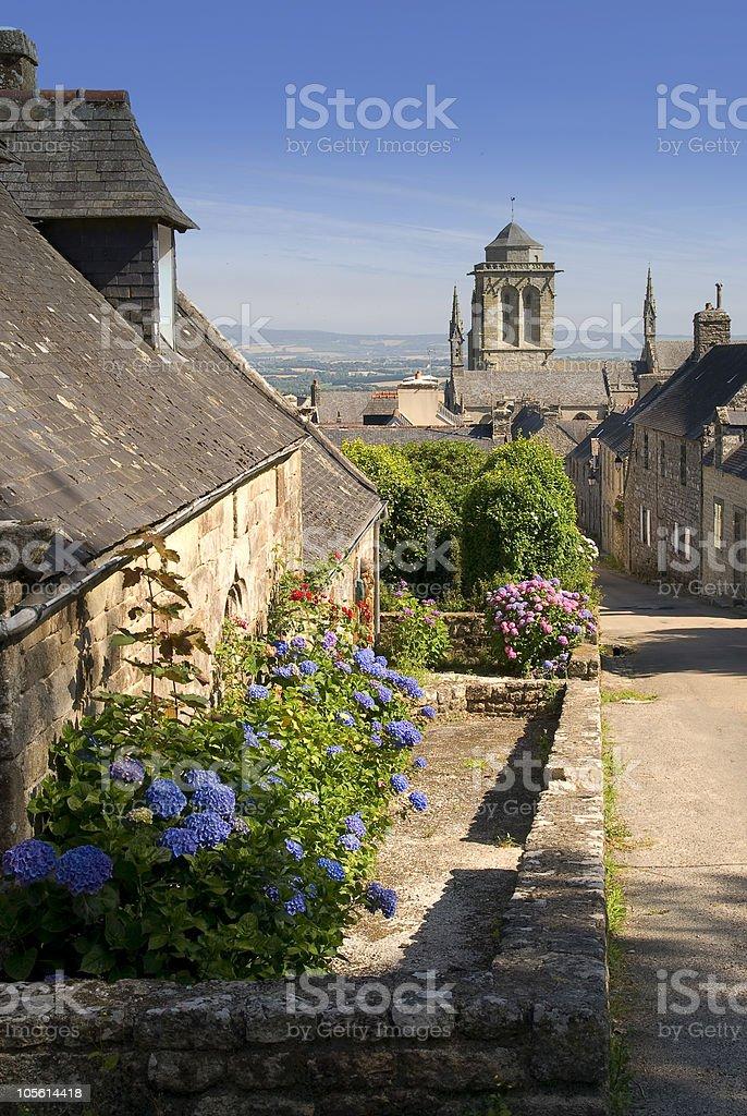 locronan, Village in Brittany stock photo