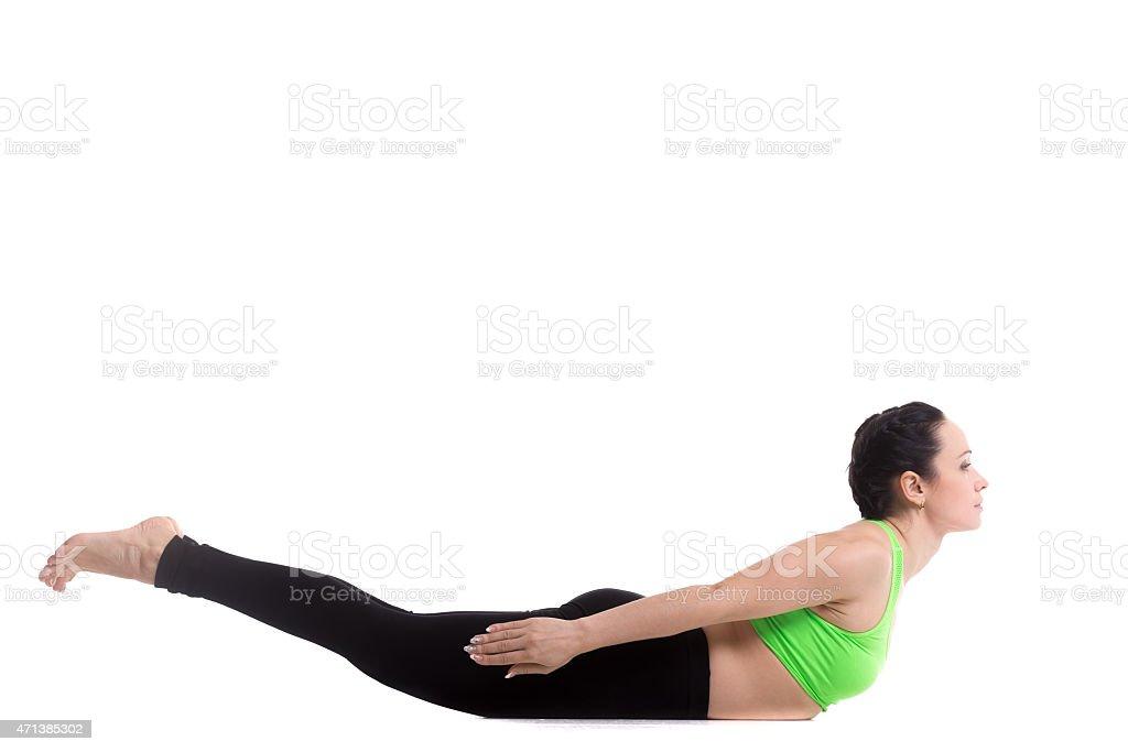 Locust yoga Pose stock photo