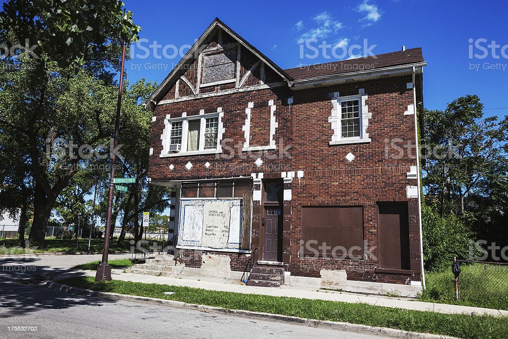 Lodebar Church. Converted Shop Building. Chicago royalty-free stock photo