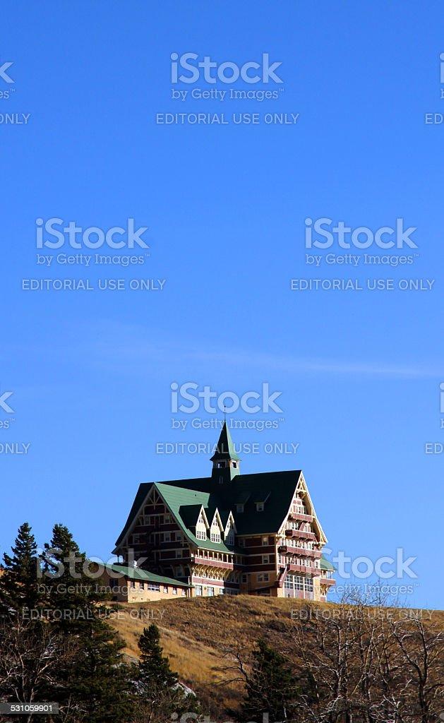 Lodge and Sky stock photo