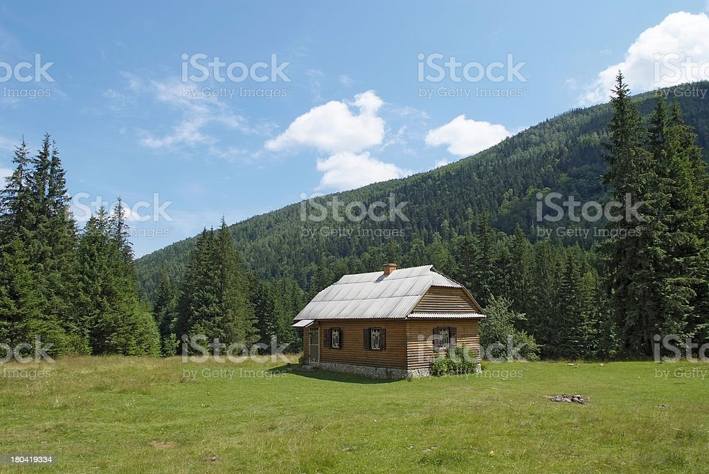 lodge in the Carpathians royalty-free stock photo