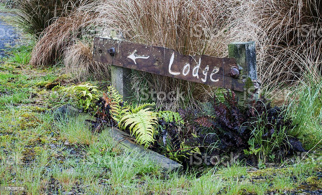 Lodge sign stock photo