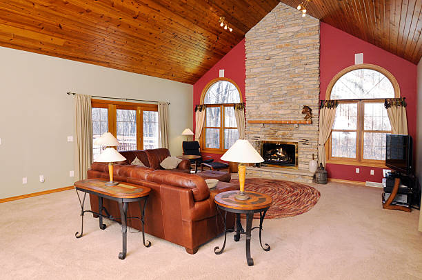 Lodge-Stil Great Room – Foto