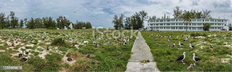 Lodging building on Midway Island.