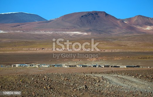 Lodgings in the middle of nowhere in Sur Lipez province, Potosi department of Bolivia