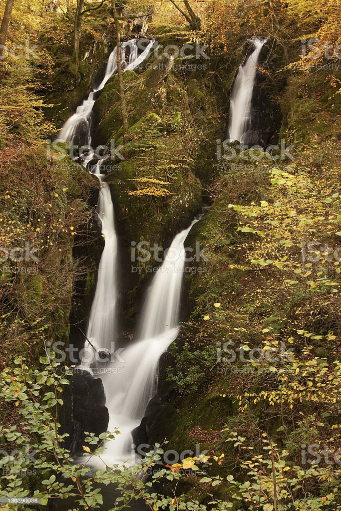 Lodore Falls royalty-free stock photo