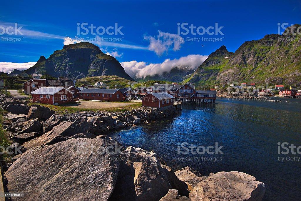 Lofoten (Norway), Å Moskenes royalty-free stock photo