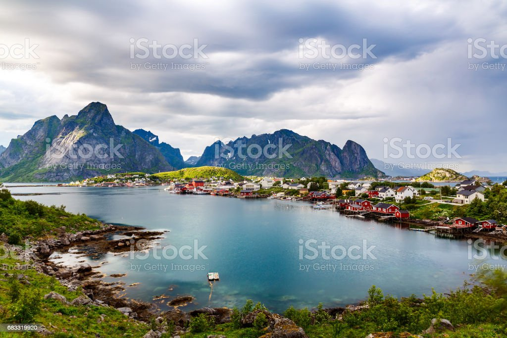 Lofoten archipelago islands Norway royalty-free stock photo