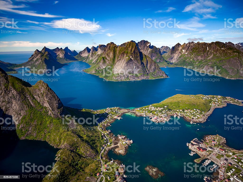 Lofoten archipelago islands stock photo
