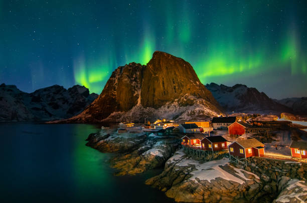 Lofoten Aurora, Norway Lofoten Aurora, Norway lofoten stock pictures, royalty-free photos & images