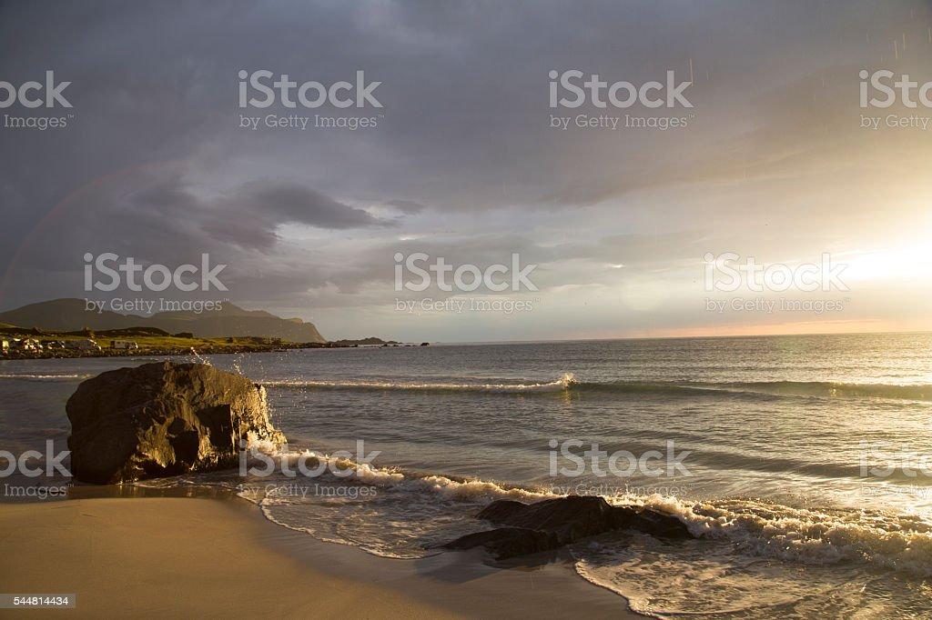 Lofoten beach stock photo