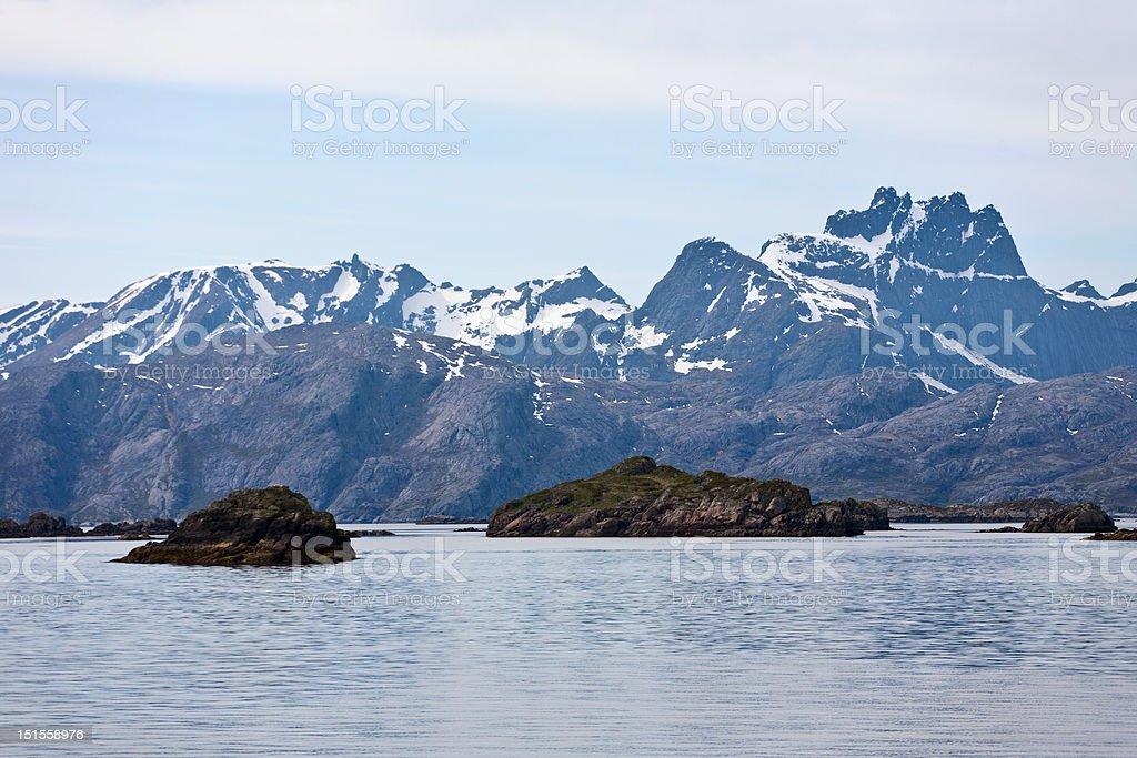 Lofoten coast royalty-free stock photo