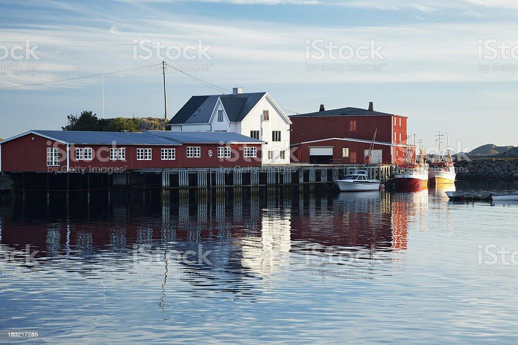 Lofoten Harbour royalty-free stock photo