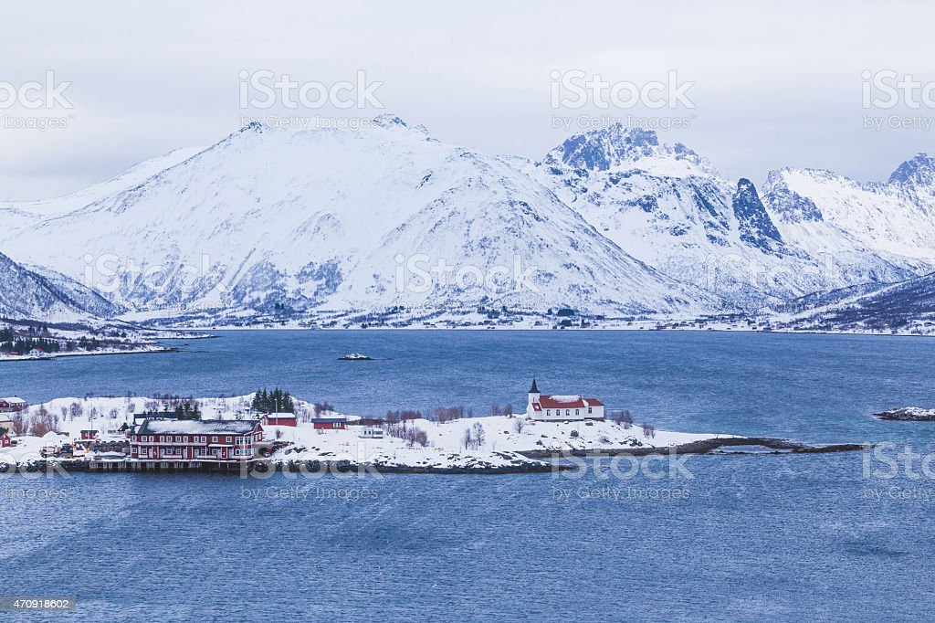 lofoten impression stock photo