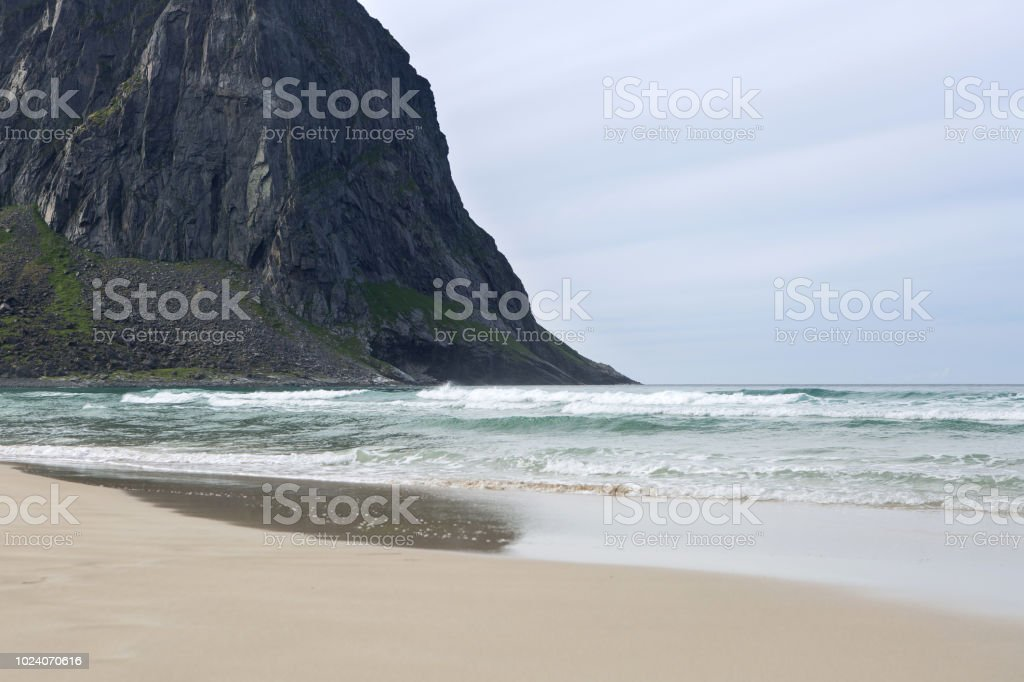 Lofoten islands beach stock photo