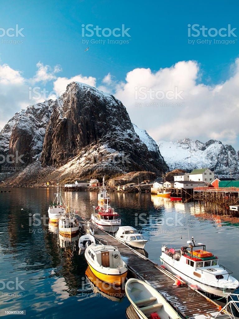 Lofoten islands, Hamnoy village royalty-free stock photo