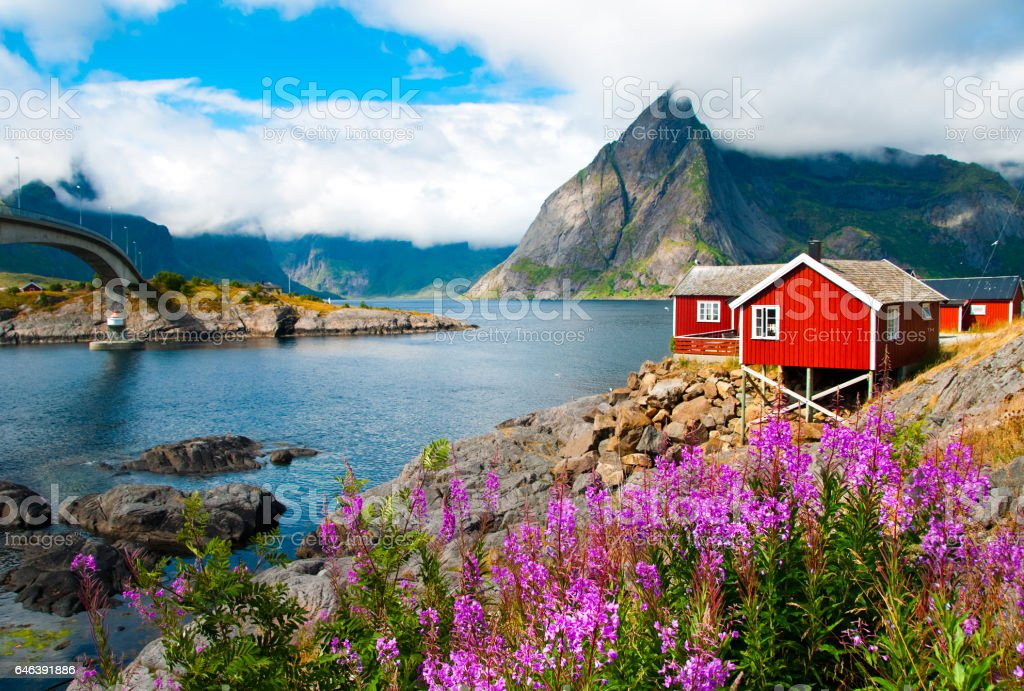 Lofoten islands  in Northern Norway stock photo