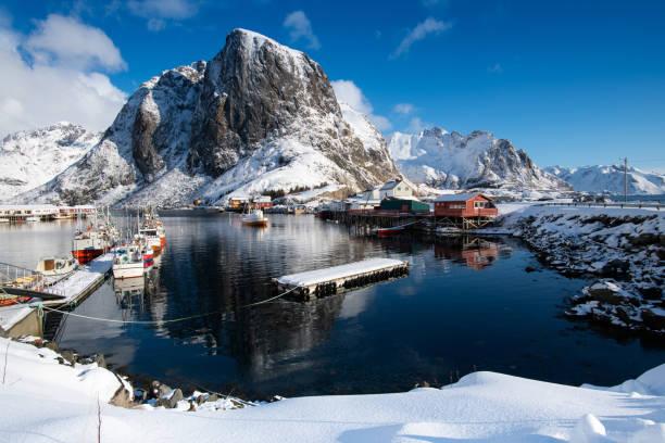 Paisagem de Lofoten, Noruega - foto de acervo