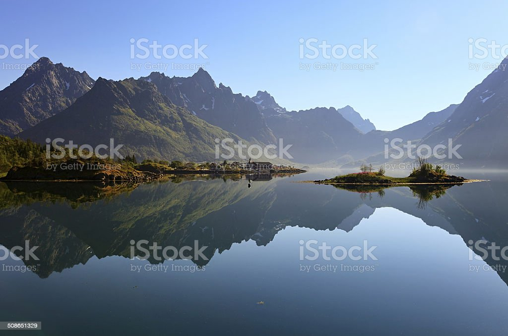 Lofoten morning, Norway stock photo