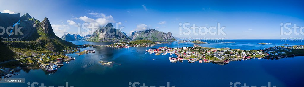 Lofoten panorama stock photo