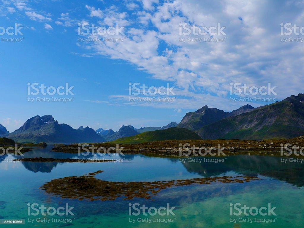 Lofoten view stock photo