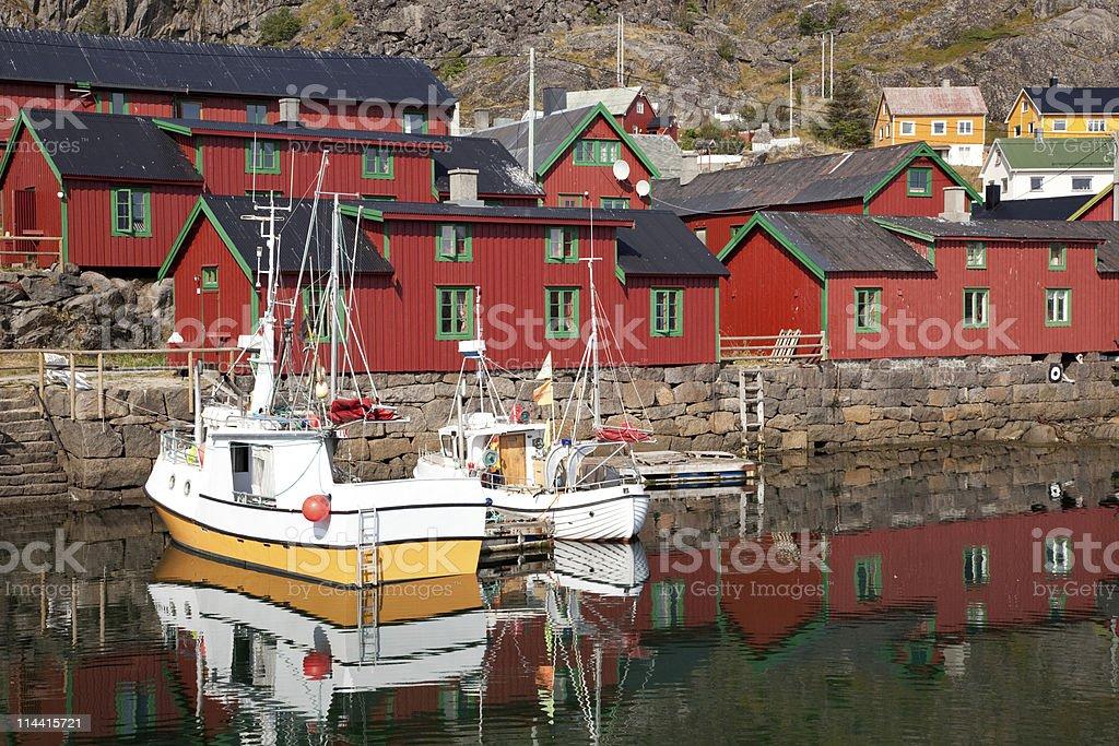 Lofoten village royalty-free stock photo