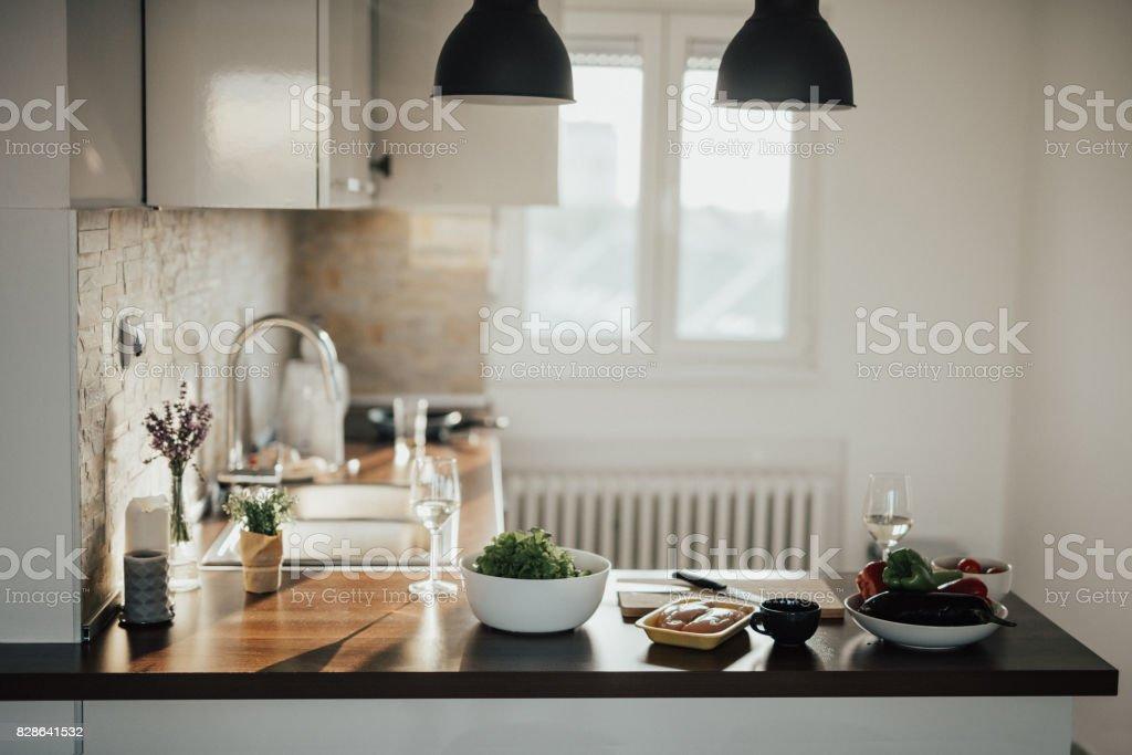 Loft Apartment Kitchen stock photo