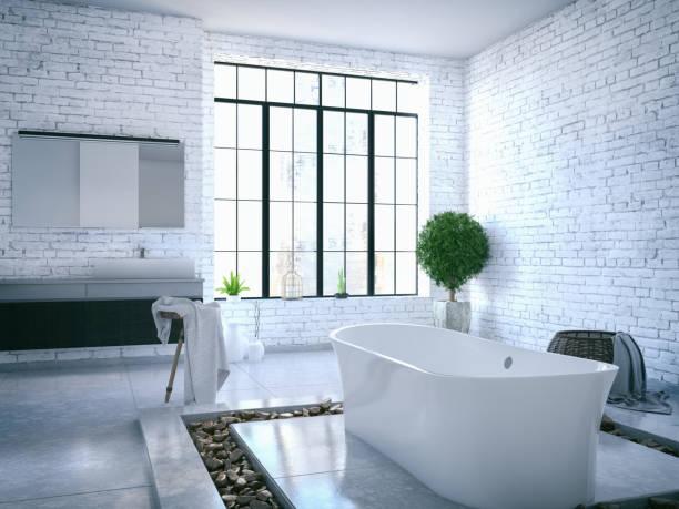 Loft baño - foto de stock