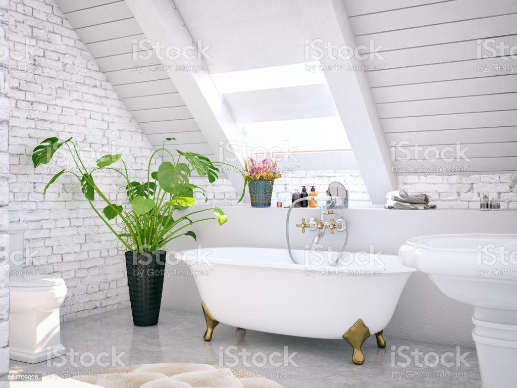 Loft Bathroom stock photo
