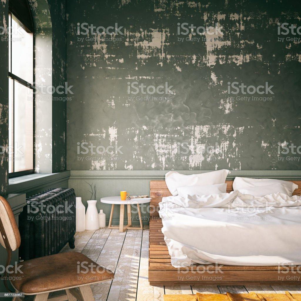 Loft Bedroom stock photo