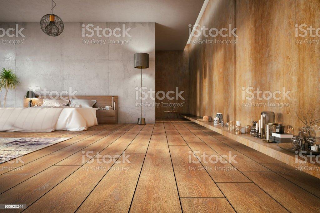 Loft-Schlafzimmer - Lizenzfrei Altertümlich Stock-Foto