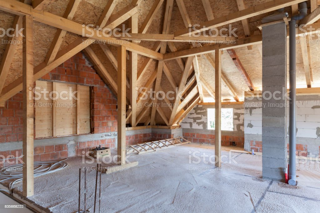 loft in the building, empty space