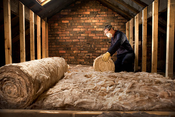loft insulation man puts insulation in his loft attic stock pictures, royalty-free photos & images
