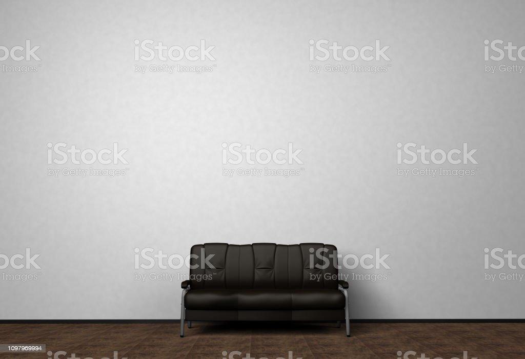Awe Inspiring Loft Interior Mock Up Photo Black Leather Sofa Minimalist Pdpeps Interior Chair Design Pdpepsorg
