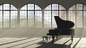 Loft interior piano concept