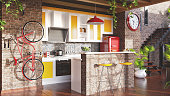 Loft kitchen concept
