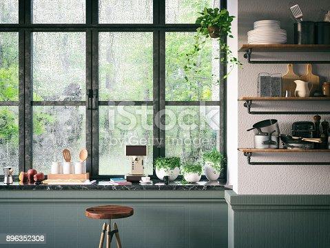istock Loft Kitchen 896352308