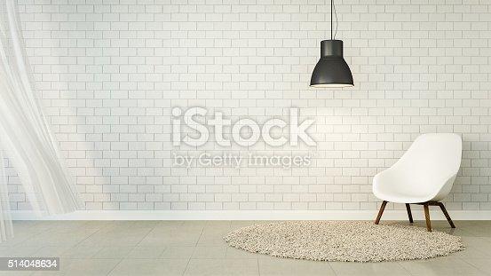 istock Loft Living and brick wall 514048634