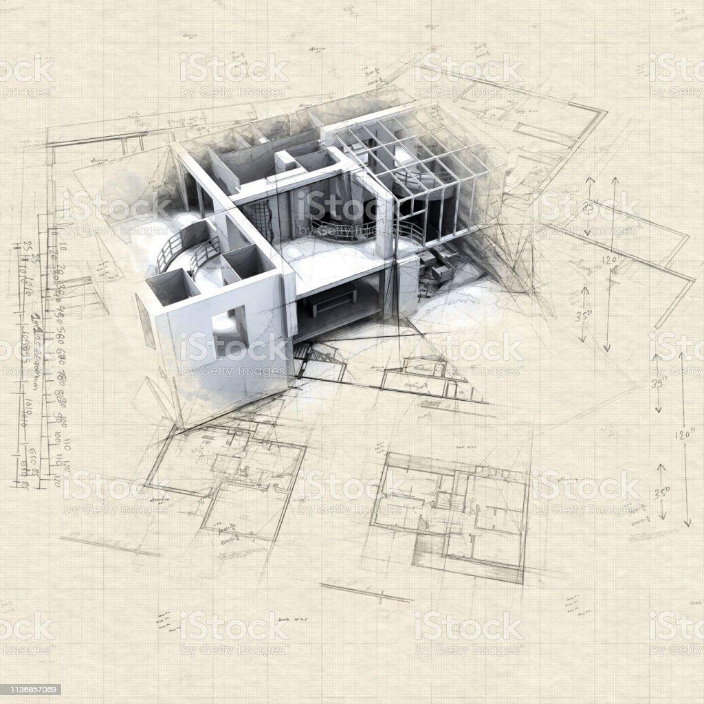 Maquette et plans de Loft - Photo